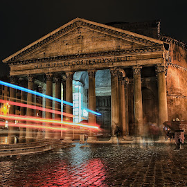 Rome by Matthew Meuskens - Buildings & Architecture Public & Historical ( rome, travel, pantheon, slow shutter, photography, travel photography )