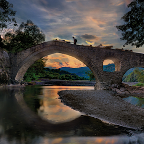 portitsa,canyon.bridge,sky,river,grevena,greece, by Dimitrios Lamprou - Buildings & Architecture Bridges & Suspended Structures ( portitsa )