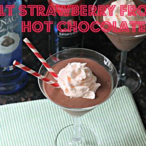 Adult Strawberry Frozen Hot Chocolatetini