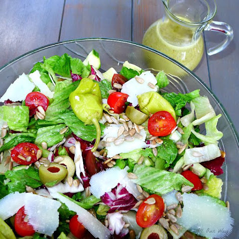 Italian Summer Salad with Basil Dressing