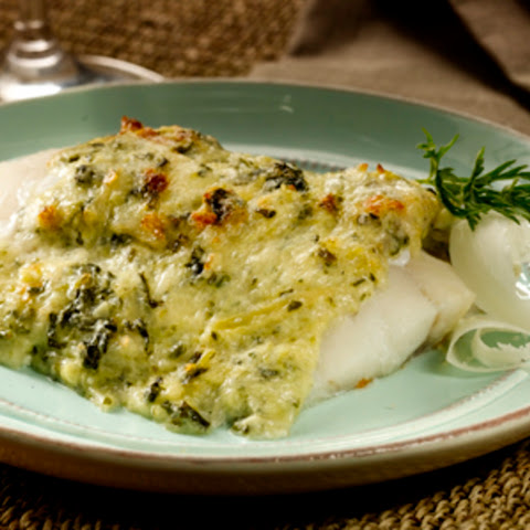 Artichoke and Spinach-Roasted Alaska Cod