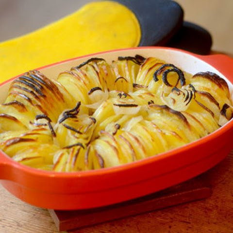 Baked Potatoes and Onions