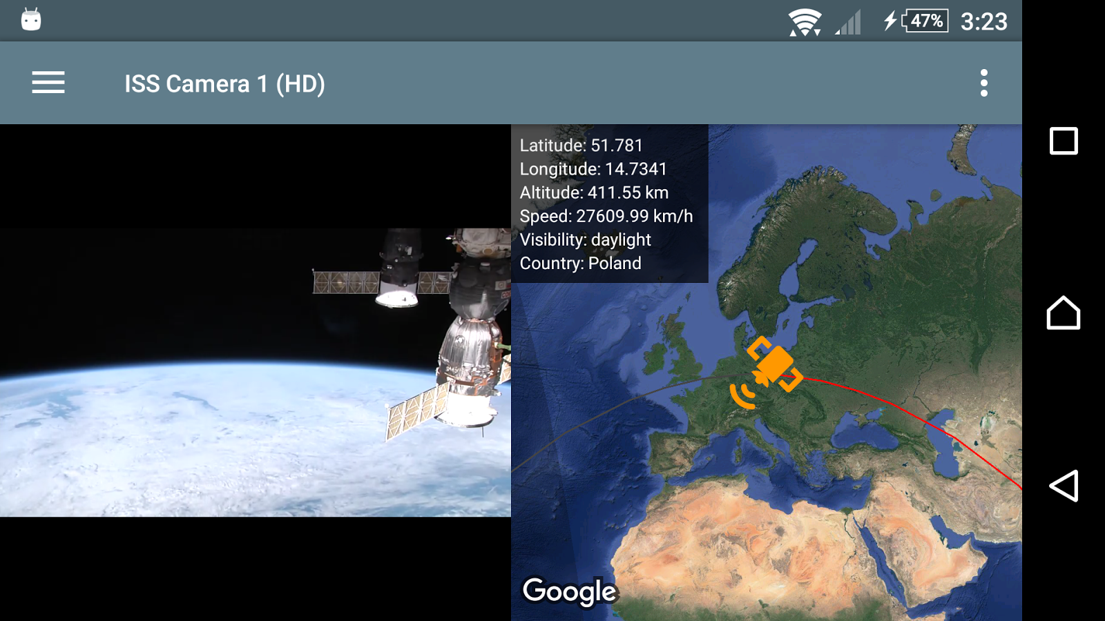ISS Live - HD Earth viewing and NASA library Screenshot 5