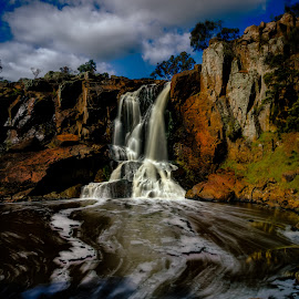 Nigretta Falls by Madhujith Venkatakrishna - Landscapes Waterscapes