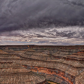 At the Goosenecks by Kent Moody - Landscapes Deserts ( desert, hdr, landscape photography, goosenecks, canyons,  )