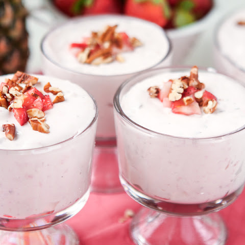 Strawberries & Cream Salad Shooters