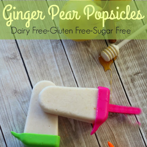Ginger Pear Popsicles