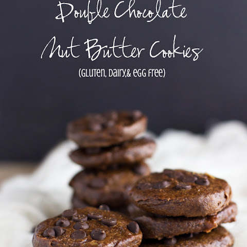 Healthier Double Chocolate Nut Butter Cookies (GF, DF, Egg-Free)