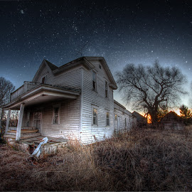 Dusk Falls Quickly by Eric Demattos - Buildings & Architecture Decaying & Abandoned ( farm, lost, eric demattos, house, collins, forgotten, historic, abandoned )