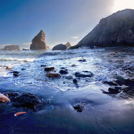 Hole In The Wall, Harris ,Oregon by Megary T - Landscapes Beaches ( beachpanorama, holeinthewall, harrisbeachoregon, panoramicstitch, beach,  )