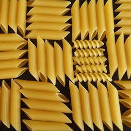 Pasta Checkerboard by Tracey Yappa - Food & Drink Ingredients ( spirals, quills, food, pasta, design, geometry )