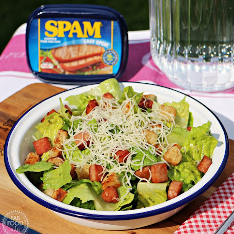 SPAM Salad with Garlic Croutons and Gruyère