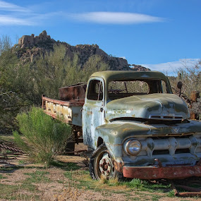 Truck at Greasewood Flats by Gwen Paton - Transportation Automobiles ( scottsdale, desert, truck, arizona, greasewood flats,  )