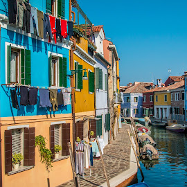 by Mario Horvat - City,  Street & Park  Historic Districts ( water, touristic, italia, boats, burano, architecture, travel, canal, italy )