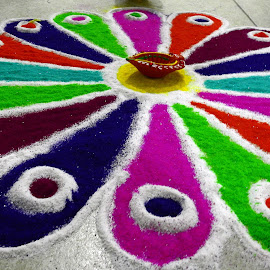 Rangoli by Pradeep Kumar - Artistic Objects Still Life