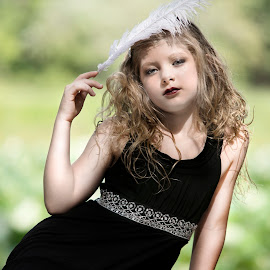 Bird of a Feather by Sylvester Fourroux - Babies & Children Child Portraits
