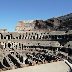 Inside the Colosseum by Tony Huffaker - Buildings & Architecture Public & Historical ( landmark, colosseum, ancient, rome, travel, roman, italy,  )