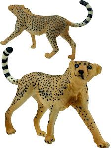 "Игрушка-фигурка серии ""Город Игр"", леопард L, коричневый"