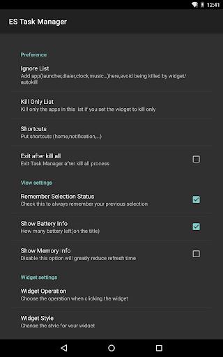 ES Task Manager (Task Killer ) screenshot 20