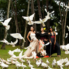 When doves fly by Jeff Ponce - People Fashion ( fashion, jcponce, doves )