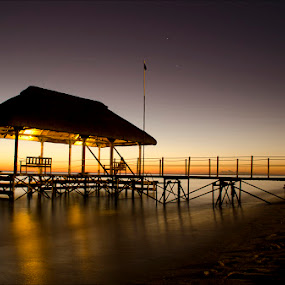 Jetty by night by Irshad Rahimbux - Landscapes Waterscapes (  )