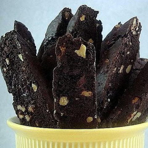 Dark Chocolate Walnut Biscotti