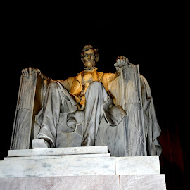 The Lincoln Monument in Washington, D.C.  by Lorraine D.  Heaney - Buildings & Architecture Statues & Monuments