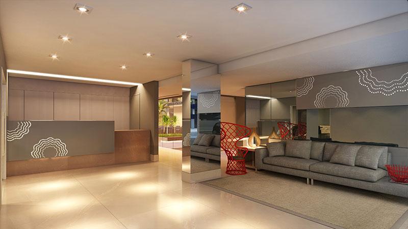 Flat com 1 dormitório à venda, 47 m² por R$ 393.968 - Tambaú - João Pessoa/PB