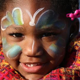 war paint by Daniel Scott Jr - Babies & Children Child Portraits ( colorful, happy, eyes open, paint, smiles )