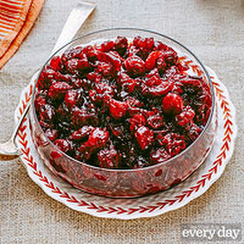 Anne Burrell's Dried-Cherry Bourbon Cranberry Sauce