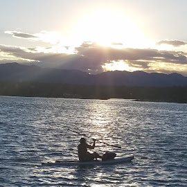 Paddle boarding on Sloan's Lake by Steve Wiegand - Sports & Fitness Other Sports