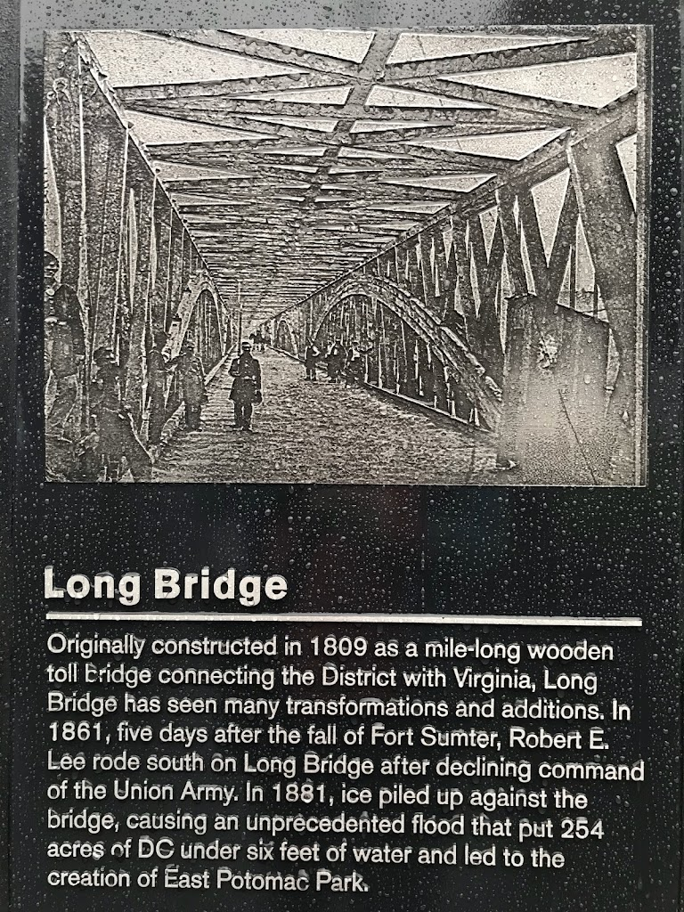 Long BridgeOriginally constructed in 1809 as a mile-long wooden toll bridge connecting the District with Virginia, Long Bridge has seen many transformations and additions. In 1861, five days after ...