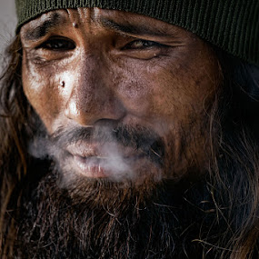 Street People by Ohmz Pineda - People Portraits of Men ( street, men, people, smoke, portrait, Emotion, human,  )