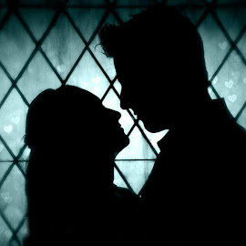 Silhouette by Brenda Shoemake - People Couples