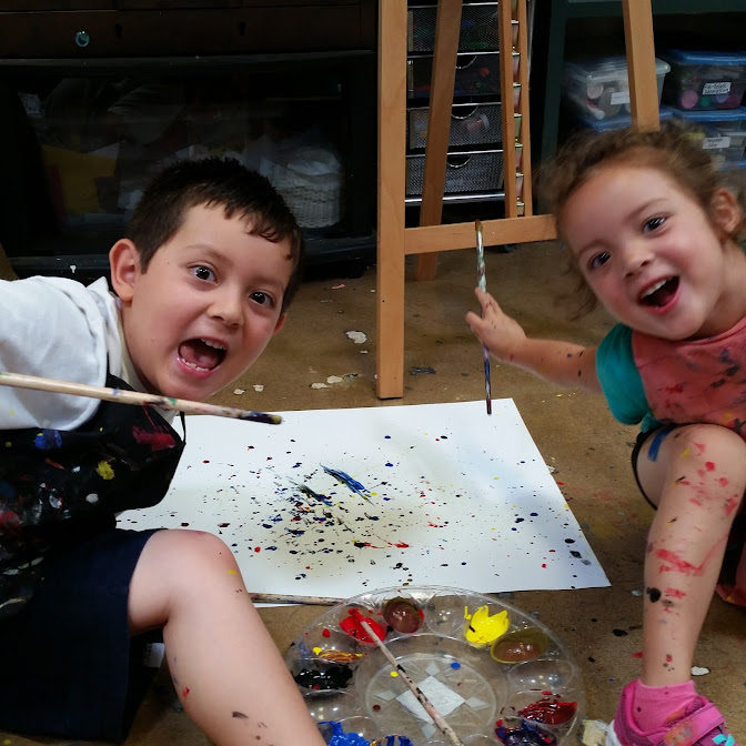 Splatter Painting fun!