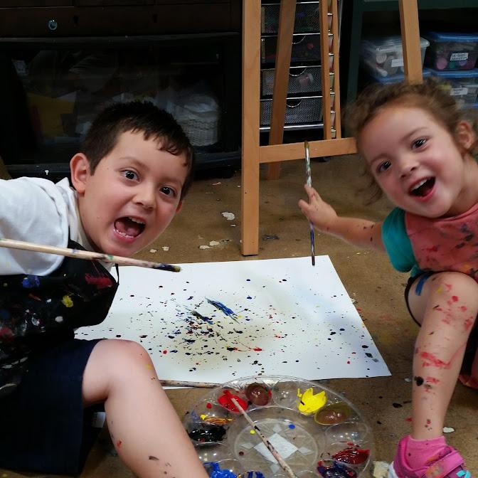 Splatter Painting fun!