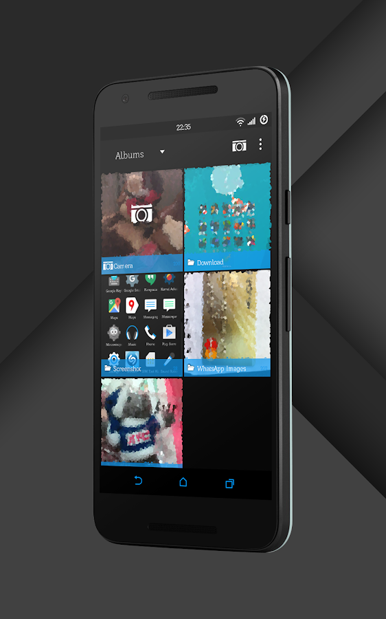 Sense Black/Blue cm13 theme Screenshot 14