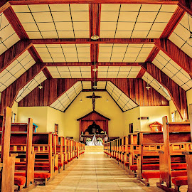 Symmetrical by Kriswanto Ginting's - Buildings & Architecture Architectural Detail ( chair, building, church, nikon d7100, architecture, symmetry, nikon )