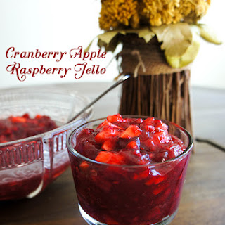 Raspberry Apple Cranberry Sauce Jello