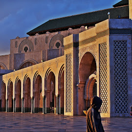 Great Mosque in Morocco by Hennie Wolmarans - City,  Street & Park  Historic Districts ( religion, building, mosque, architecture, golden hour,  )