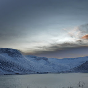 Isafjordur by My 1st Impressions - Landscapes Mountains & Hills ( iceland, mountain, sunset, ice, snow, west, fjord )