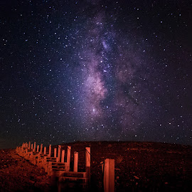 Waaay Milky by Maya Bar - Landscapes Starscapes ( milkyway, stairs, stars, night photography )