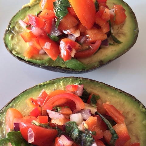 Cherry Tomato Stuffed Avocado