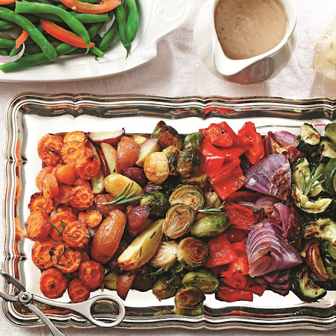 Rosemary Roasted Winter Vegetables with Tri-Color Potatoes