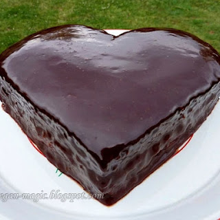 Orange Cake with a Heart of Chocolate
