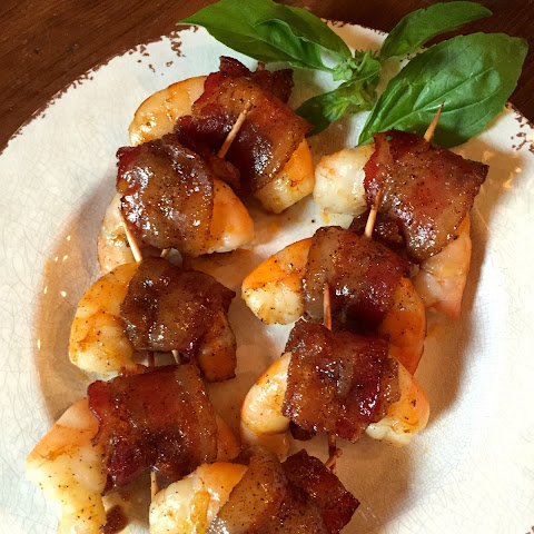 Brown Sugar Glazed Bacon Wrapped Shrimp