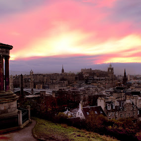 View from Calton Hill by Scott Pirrie - City,  Street & Park  Skylines ( calton hill, edinburgh )