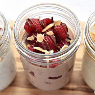 Overnight Oats, 3 Ways ~ PB Banana, Raspberry Nutella, & Coconut Almond