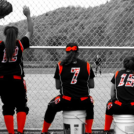 The last Game by LeeAnne Hunsecker - Sports & Fitness Other Sports ( girls, orange, play, softball, kids )