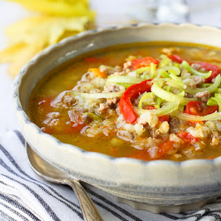 Hearty Ground Turkey Soup